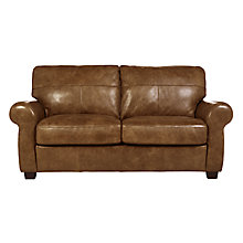 Buy John Lewis Hampstead Leather Medium Sofa, Old West Cognac Online at johnlewis.com