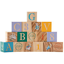 Buy Peter Rabbit Wooden Picture Blocks Set, 16 Pieces Online at johnlewis.com