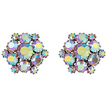 Buy Susan Caplan Vintage 1950s Weiss Silver Plated Swarovski Crystal Snowflake Clip-On Earrings, Aurora Borealis Online at johnlewis.com