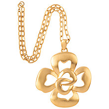 Buy Susan Caplan Vintage 1970s Trifari Stylised Flower Pendant Necklace, Gold Online at johnlewis.com
