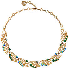 Buy Susan Caplan Vintage 1950s Lisner Swarovski Crystal Necklace, Gold/Green Online at johnlewis.com