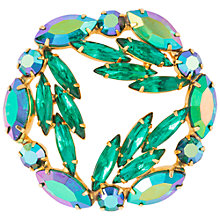 Buy Susan Caplan Vintage 1950s Weiss Green Crystal Wreath Brooch, Aurora Borealis Online at johnlewis.com