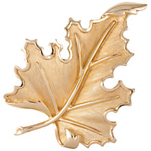 Buy Susan Caplan Vintage 1960s Trifari Leaf Brooch, Gold Online at johnlewis.com