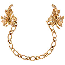 Buy Susan Caplan Vintage 1950s Trifari Gold Plated Leaf Chatelaine Brooch, Gold Online at johnlewis.com