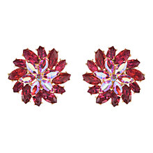 Buy Susan Caplan Vintage 1960s Trifari Swarovski Crystal Clip-On Earrings, Gold/Red Online at johnlewis.com