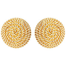 Buy Susan Caplan Vintage 1960s Monet Woven Round Stud Earrings, Gold Online at johnlewis.com