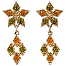 Buy Susan Caplan Vintage 1970s Sarah Coventry Swarovski Drop Earrings, Green/Orange Online at johnlewis.com