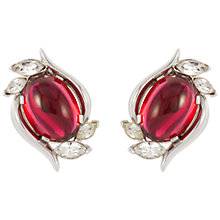 Buy Susan Caplan Vintage 1960s Trifari Crystal Earrings, Red/Silver Online at johnlewis.com