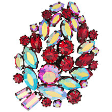 Buy Susan Caplan Vintage 1960s Vintage Aurora Borealis Leaf Brooch, Red Online at johnlewis.com