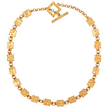 Buy Susan Caplan Vintage 1990s Biche de Bere Patterned Link Necklace, Gold Online at johnlewis.com