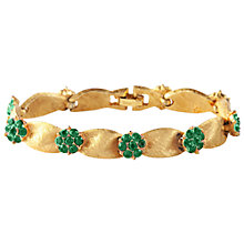 Buy Susan Caplan Vintage 1960s Trifari Crystal Flower Bracelet, Gold Online at johnlewis.com