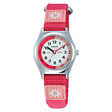 Buy Lorus Children's Time Teacher Daisy Nylon Strap Watch Online at johnlewis.com