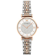 Buy Emporio Armani Women's Crystal Bracelet Strap Watch Online at johnlewis.com