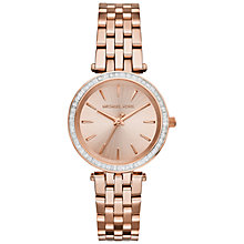 Buy Michael Kors MK3366 Women's Stainless Steel Mini Darci Bracelet Strap Watch, Rose Gold Online at johnlewis.com