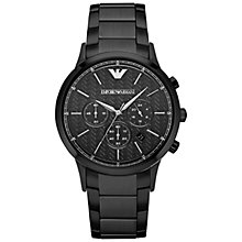 Buy Emporio Armani Men's Renato Chronograph Bracelet Strap Watch Online at johnlewis.com