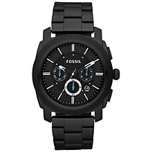 Buy Fossil Men's Machine Chronograph Bracelet Strap Watch, Black Online at johnlewis.com