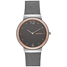 Buy Skagen SKW2382 Women's Freja Mesh Bracelet Strap Watch, Silver Online at johnlewis.com