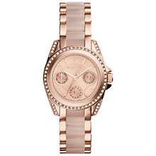 Buy Michael Kors MK6175 Women's Mini Blair Stainless Steel Bracelet Strap Watch, Rose Gold/Blush Online at johnlewis.com
