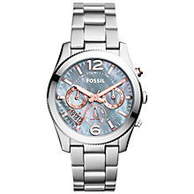 Buy Fossil ES3880 Women's Perfect Boyfriend Stainless Steel Bracelet Strap Watch, Silver/Grey Online at johnlewis.com