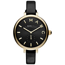 Buy Marc Jacobs MJ1416 Women's Sally Leather Strap Watch, Black Online at johnlewis.com