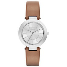 Buy DKNY Women's Stanhope 2.0 Leather Strap Watch Online at johnlewis.com