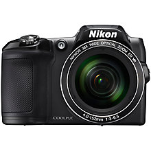 "Buy Nikon COOLPIX L840 Bridge Camera, 16MP, HD 1080p, 38x Optical Zoom, Wi-Fi, NFC, 3"" LCD Screen Online at johnlewis.com"