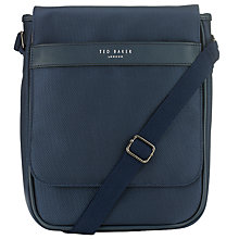 Buy Ted Baker Tograin Nylon Satchel Bag, Navy Online at johnlewis.com