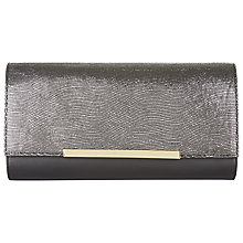 Buy Jaeger Collins Leather Clutch Bag, Gunmetal Online at johnlewis.com