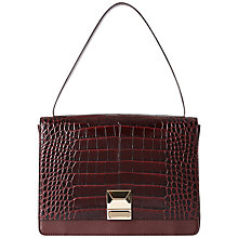Buy Jaeger Croc-Effect Leather Grab Bag, Wine Online at johnlewis.com