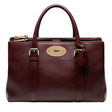 Buy Mulberry Bayswater Double Zip Tote Bag, Oxblood Online at johnlewis.com