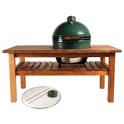 Big Green Egg XL Ceramic Charcoal Barbecue in Royal Mahogany Table