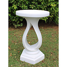 Buy Contemporary Marble Bird Bath, White Online at johnlewis.com