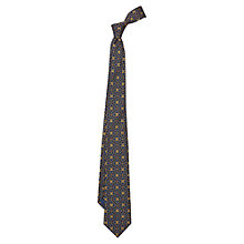 Buy Duchamp Foulard Print Silk Tie, Blue Online at johnlewis.com