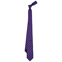 Buy Duchamp Dogstooth Silk Tie, Purple Online at johnlewis.com