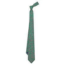 Buy Duchamp Cross Print Silk Tie, Green Online at johnlewis.com