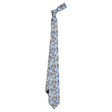Buy Duchamp Luminus Floral Silk Tie, Blue Online at johnlewis.com