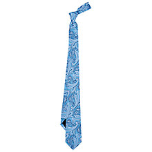 Buy Duchamp Classic Paisley Silk Tie, Blue Online at johnlewis.com