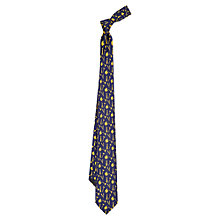 Buy Duchamp Barber Shop Silk Tie, Blue/Yellow Online at johnlewis.com