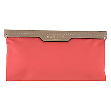 Buy Radley Mercer Street Large Fabric Zip Purse, Orange Online at johnlewis.com