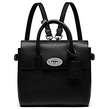 Buy Mulberry Cara Delevingne Mini Bag, Black Online at johnlewis.com