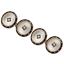 Buy Jenny Knott Mother of Pearl Cufflinks, Gold/Navy Online at johnlewis.com