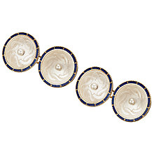 Buy Jenny Knott Crafted Pearl Cufflinks, Gold Online at johnlewis.com