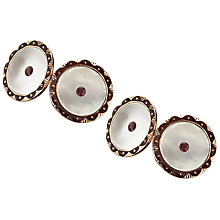 Buy Jenny Knott Edwardian Ruby Cufflinks, Rose Gold Online at johnlewis.com