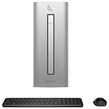 Buy HP Envy 750-159na Desktop PC, Intel i5, 8GB, 2TB+128GB SSD, Metal Online at johnlewis.com