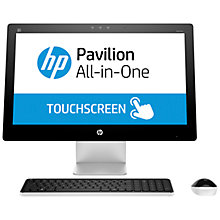 "Buy HP Pavilion 23-Q111na All-in-One Desktop PC, AMD A10, 8GB RAM, 2TB, 23"", Blizzard White Online at johnlewis.com"