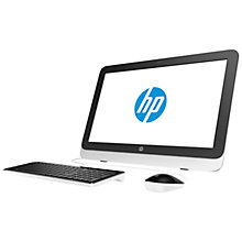 "Buy HP 22-3130na All-in-One Desktop PC, Intel Core i3, 8GB RAM, 1TB, 21.5"" Online at johnlewis.com"