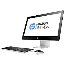 "Buy HP Pavilion 23-Q150na All-in-One Desktop PC, Intel Core i5, 8GB RAM, 1TB, 23"", Black/White Online at johnlewis.com"