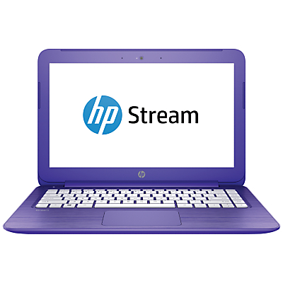 "Image of HP Stream 13-c101na Laptop, Intel Celeron, 2GB RAM, 32GB eMMC, 13.3"", Violet"