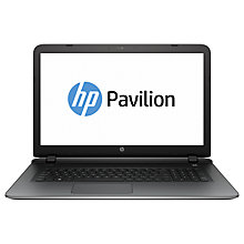"Buy HP Pavilion 17-g150na Laptop, AMD Quad-Core A8-7410 APU, 8GB RAM, 1TB, 17"", Natural Silver Online at johnlewis.com"