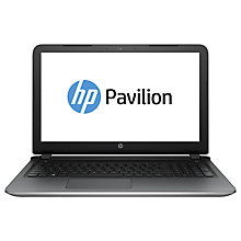 "Buy HP Pavilion 15-a100na Laptop, Intel Core A10, 12GB RAM, 2TB, 15.6"", Natural Silver Online at johnlewis.com"